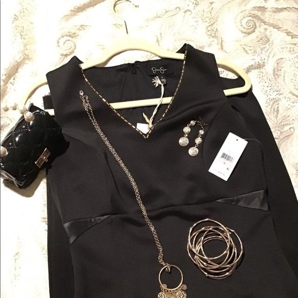 JESSICA SIMPSON Black Evening Dress Sz. 6